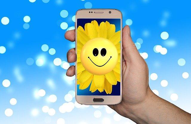 mobile friendly smiling sunflower